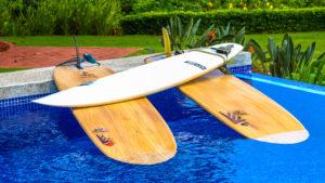 Firewire SurfBoards in Pool of Kalon Surf Costa Rica Luxury Resort