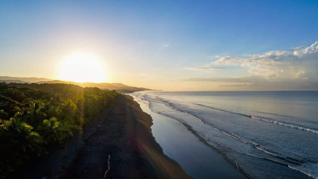 Dominical Costa Rica Ocean Meets Jungle Sunrise