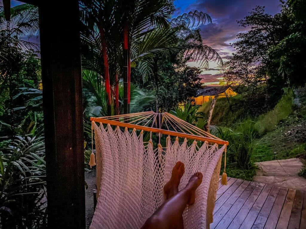 Toucan Bungalow sunset